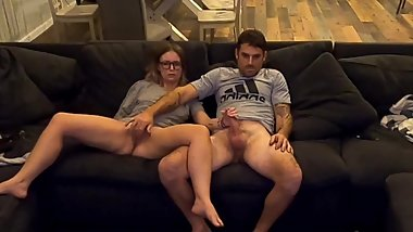 Masturbating and watching porn together = One hot fucking night of sex