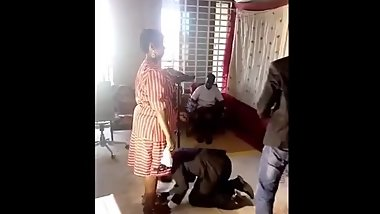 PASTOR SHAVING WOMAN PRIVATE PARTS AT CHURCH