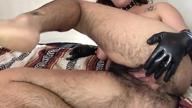 FUCK! Nasty Arab WHORE with a SUPER HAIRY CUNT.