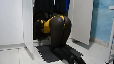 What do you do in my closet, hot step sister