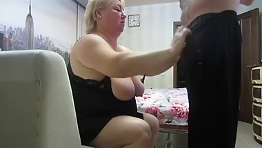 mother-in-law likes to suck my cock before going to bed