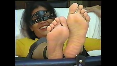 Milf feet tied and tickled