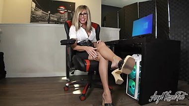 Playtime With Boss Feet - Nikki Ashton