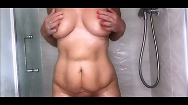 british milf in the shower